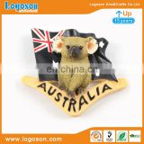 Australia Koala bear with Australia flag resin fridge magnet polyresin magnet