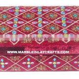 Decorative Zari Hand Embroidery Box