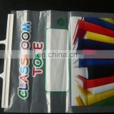 hot sale high quality Plastic PE hanger open plastic document file packing plastic bag