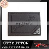 black pu leather heat-cut embossed logo custom printed labels