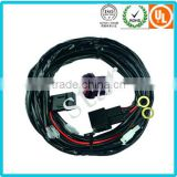 Auto Light Wiring Harness With waterproof fuse holder and wire connector plugs 12v Relay