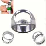 Cool Men Stainless Steel Metal Finger 0.88inch Ring Beer Wine Bottle Opener Tool
