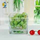 square glass fruit dish & clear glass fruit vessel & clear glass square fruit bowl