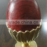 red and golden egg shape top cap/head/ plastic curtain final for aluminum/iron curtain pipe