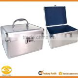 Silver Aluminum Medication and Security Lock Box,First Aid storage carrying case                                                                         Quality Choice