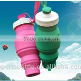 Portable high quality promotion Top Quality Eco-Friendly foldable water bottle, new style Silicone pot