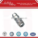 High Quality Mini Europe Type Steel Hose Rotating Air Connector/ Air quick coupler se16-sh