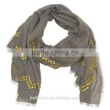Wholesale Fashion Rhinestuds Jewelry Cotton Muslim Ladies Scarf                                                                         Quality Choice