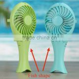 Rechargeable Desk Handheld Battery Fish Portable Electric USB Mini Fan                                                                         Quality Choice