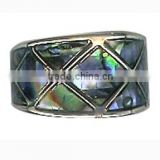 Unisex Vintage Style Engravable Paua Shell Ring For Women And Men Jewelry Green Shell Men Crystal Ring