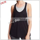50% Cotton 50% Polyester Sex Fitness Women's Loose Crop Racerback Tank Top                                                                         Quality Choice