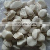 Pure white pebbles white cobble stone driveway pebble stone