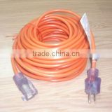 USA extension cord with lighted ends for outdoor using