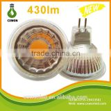 Glass led spotlight mr16 12V DC cob 4watt ceiling lamp floor garden spotlight using led lamp