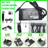 Adapter AC100-240V to DC 12V 8A 10A Security power supply switch led driver power adapter for led light strip light