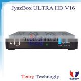 Jyazbox Ultra HD V16 FTA Digital Satellite TV Receiver With turbo 8psk JB200 and Wifi adapter JyazBox v16 for north america