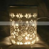 Ceramic aroma burner candle holder with oil warmer