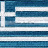 Greece Flag custom Embroidered Patch iron on jackets 100% embroidery                                                                         Quality Choice