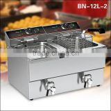 Restaurant equipment stainless steel counter top electric air fryer/pressure fryer BN-12L-2