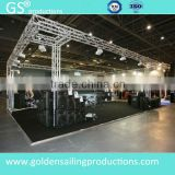 Portable mobile DJ truss System with arch truss roof
