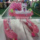 KAISHUN BRAND factory sales safe softextile new model baby walker with removable musical box