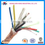 Cu / XLPE / PVC YY / SY LSHF / LSZH Unscreened Steel Wire Braid Auto Flexible Control Cable