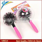 Hot Curling Style Brush Hair Style Massage Comb Round 3D Hair Comb