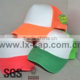 custom plain orange 5 panel fitted trucker baseball cap ccap-0288                                                                         Quality Choice