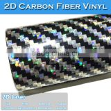 SINO New Design Laser Big Textured 2D Carbon Fiber Car Body Sticker Paper