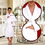 Super soft fleece pajama simple style men's bathrobe OEM Cheap embroidered womens bathrobes