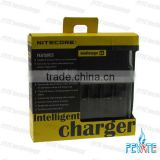 Newest Nitecore i4 charger Intelligent battery charger Multifunctional battery charger Ni-MH/Ni-Cd/aa aaa battery charger