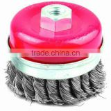 China Maufacture TWISTED KNOT CUP BRUSH 100MM