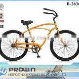"Australia market brown color 26"" single sp beach cruiser bike, fat tire beach cruiser bikes, adult chopper bicycle (PW-B26369)"