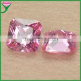 wholesale name AAA grade pink square octangle princess cut cubic zirconia rough synthetic bulk cut gemstones