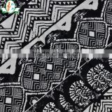 Black And White Foreign Classical Style Pattern Breathable Cotton Spandex/Lycra Swimwear/Pajamas Fabric