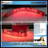 New! P3.25-7x80(296*27mm) Soft mini flexible led message display screen                                                                         Quality Choice