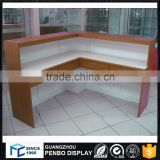guangdong top 10 supplier wood counter table for restaurant