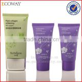 High class BB cream tube with sliver plating cap