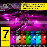 HTAUTO Cars Auto Parts Guangzhou Supplier Led Light RGB Led Strip Light Controlled by Remote Auto Internal Led Flexible Strip