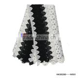 High Quality Black &White African Lace Guipure Cord Lace Fabric For women Dress Party/Occasion Dress
