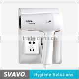Multi-functional power saving 1000W Plastic professional hair dryer for hotel wall mounted hair dryer holder