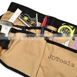 multi pockets brown canvas waist gardening tool apron                                                                         Quality Choice