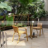 New garden bamboo like furniture, rattan bamboo chairs with coffee table, bamboo bistro