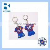 promotional silicone key chain ring football team sports wear