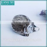 LX-Z098 unique gifts crystal glass colored animal shape candle holder hedgehog tealight holder