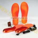 heated insoles with adhesive shoe pads