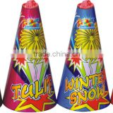 "Cheap fireworks wedding decoration 4"" conic smoke fountain fireworks"