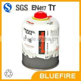 Butane gas can in 230g 450g with En417 self-sealing safety valve