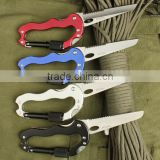 OEM outdoor stainless steel multi Carabiner hook for mountain climbing multi knife UDTEK01914