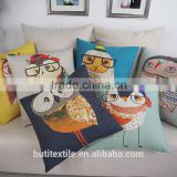 Top Grade digital printing Colorful Birds Cushion Pillow Cover, Square Home Decor sofa cushion